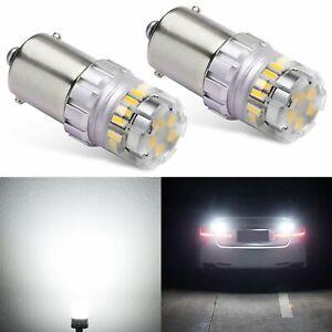 1156 1300lm LED Turn Signal Backup Reverse Lights Bulbs 3030-SMD Super White New