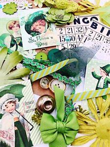 Vintage St. Patrick's Day Mega Lot-junk journaling, card making, scrapbooking