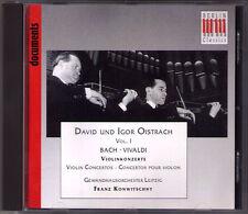 David & Igor OISTRAKH: BACH VIVALDI Concerto for 2 Violins CD Franz KONWITSCHNY