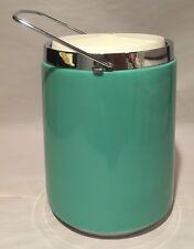 RARE Green Polyflon Mid Century Modern MCM  Insulated Ice Bucket Cooler