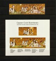 ✔️ (YYBD 132) Australia 1970 MNH, USED Mi 237 -2 Sc 477 - 482a Cook Bicentenary
