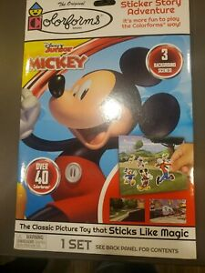 Disney Jr Mickey Mouse Colorforms Picture Sticker Story Adventure Toy Activity