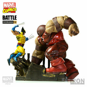 "IRON STUDIOS 1/6 Custom Statue Wolverine VS Red Tank Figurine 17.3"" Collectible"