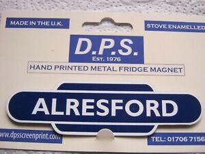 ALRESFORD Railway Train Station Totem Enamel Sign Fridge Magnet