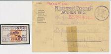 ÖSTERREICH 1915 PRZEMYSL (Galizien) BALLON KARTE und Ungarn Zeitungsmarke!