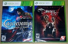 XBox 360 Game Lot - Castlevania Lords of Shadow (New) The Darkness II (New)
