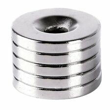 Vogue New 5pcs 20x3mm Neodymium Disc Super Strong Earth Magnets With Holes 5mm