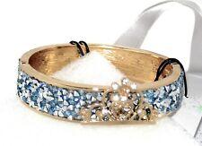 Disney Parks Bracelet✿Kingdom Castles Princess Crown Blue Jewel Cuff +Gift Bag