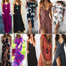 Womens Summer Boho Maxi Dress Evening Cocktail Party Beach Dresses Sundress Lot