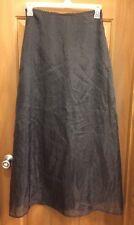 LIA Black Taffeta Long A-Line Full Length Skirt Misses Size M NWT