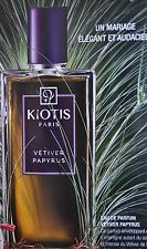 50% de reduction eau de parfum vetiverpapyrus kiotis paris 50 ml