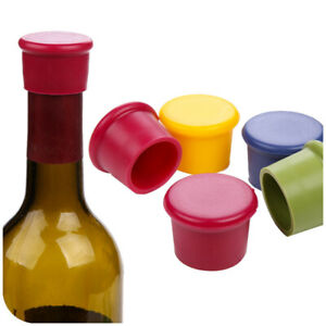 Color Silicone Wine Bottle Stopper Rubber Stopper Kitchen Accessories Bar Tool