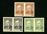 Argentina Stamps ROOSEVELT VF UNUSED ESSAY-PROOF 3 PAIRS