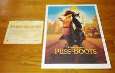 Dreamworks Puss in Boots Lim Ed. Hand Numbered Litho Poster Banderas Hayek