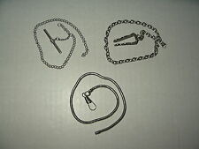 Chains (3 Different Chain Links) 3 Short Vintage Silvertone Pocket Watch