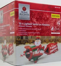 Gemmy Home Accents 16 ft Santa on Airplane Christmas Merry Airblown Inflatable