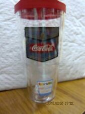 Coca Cola Tervis 24 oz Tumbler with Red Lid  Blue Jean Patch  NEW- FREE SHIPPING