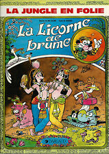 EO GODARD + MIC DELINX + SUPERBE DESSIN ORIGINAL 2 PAGES : LA LICORNE DE BRUME