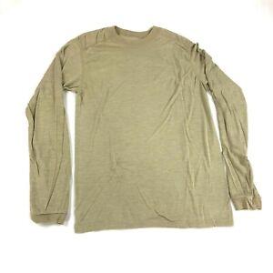 Drifire FR Base Layer Long Sleeve Shirt Sand Tan Flame Resistant Top SMALL