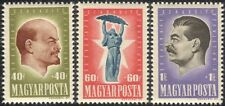 Hungary 1947 Lenin/Stalin/Politics/People/Russian Revolution 3v set (n45357)
