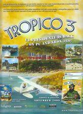 "tropico 3 ""Kalypso"" 2009 Magazine Advert #4610"