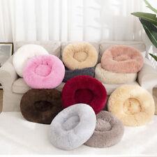 Pet Bed Round Shape Kennel Soft Plush Dog Cat Puppy Sleeping Winter Warm Cushion