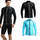 Men Anti-UV Long sleeve Snorkeling Suit Swimwear Surfing Diving Sunscreen Tops