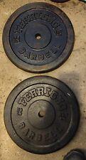 "Ferrigno Standard 50 lb Pair Weight Plates Vintage 1 1/16"" 2x50 lbs"