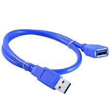 10Ft/3M Cable de extensión USB 2.0, A-Macho a Hembra-un cable de datos, 5 Gbps, Azul