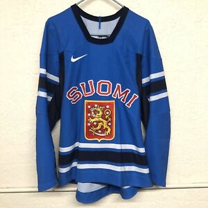 Team Finland Suomi IIHL Hockey Jersey Nike Promo Size 52 (LARGE) NEW