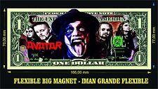 AVATAR BAND Black Waltz IMAN BILLETE 1 DOLLAR BILL MAGNET