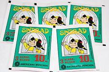 Americana Sindbad De 1978, 5 X Sac en Papier Paquet Bustina Pochette Rare ! Rare