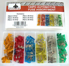 120pc GOLIATH INDUSTRIAL CAR BLADE FUSE BOX ASSORTMENT FUSES TRUCK RV AUTOMOTIVE