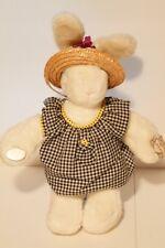 Gund 3467 Bunnytales Plush Toy Bunny Rabbit Doll w/ straw hat 1986 Vintage NEW