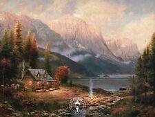 Beginning of a Perfect Day - Cottage, Mountains - Thomas Kinkade Dealer Postcard