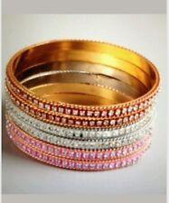 Set 6 New Chamak Priya KAKKAR Pink Red White Crystal Bling Bangle Bracelet