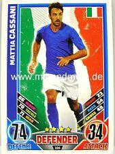 Match Attax Euro EM 2012 - #104 Mattia Cassani - Italien