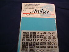 ARCHER FINE TRANSFERS 8TH ARMY ARM OF SERVICE SIGN FORMATION AR35069.7 1:35 NEW