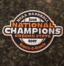 New ListingOregon State Beavers Baseball Jersey National Champions Patch 06-07 Cws Ncaa