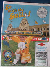 Torquay Utd-Go With The Gulls-1989 Sherpa Van Final v Bolton-Newspaper Special
