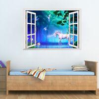 3D Wonderland Unicorn Room Home Decor Removable Wall Sticker Decals Decoration*
