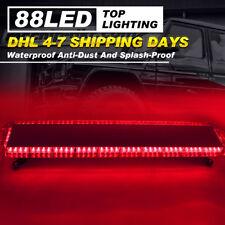 """47"""" 88 LED Flashing Lights Bar Emergency Police Warning Response Strobe Lamp RED"""