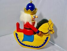 "Wooden Nutcracker - King on a Horse - 9.5"" tall - quite unique !!"