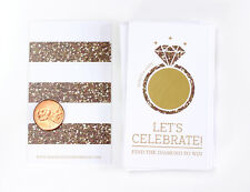 Bridal Shower Engagement Wedding Party Favor Scratch Off Game Card
