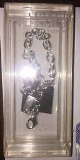 NIB Swarovski Oval Charm Bracelet 9202 Silver plated