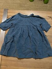 Blu Pony Vintage Girls Size 4 Dress Linen Cotton