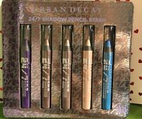 Urban Decay 24/7 Glide On Shadow Pencil Stash Set 5 Travel Size Eye Pencils HTF