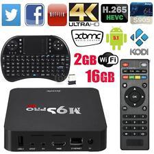M9S-PRO 2+16G Android 6.0 Quad Core Smart TV Box 4K VP9 WiFi 3D Media+Keybo A9W4