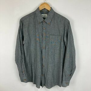 Mr Simple Mens Button Up Shirt Size S Small Grey Long Sleeve Collared