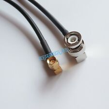 BNC male 90° to SMA plug right angle crimp jumper pigtail RF RG58 cable 20inch